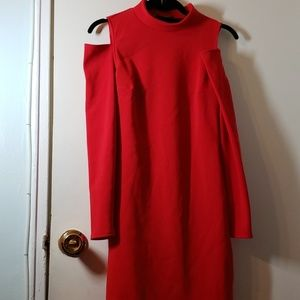 Express long sleeve cutout dress